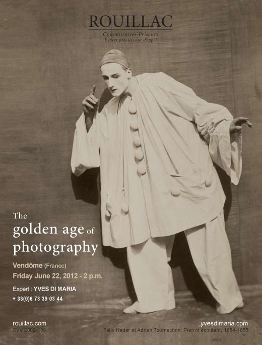 The golden age of photography Vendome june 22, 2012, Rouillac Yves Di Maria